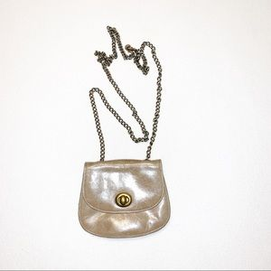 HOBO Distressed Leather Taupe Crossbody Purse